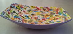 Ceramic bowl (for salads, fruits, etc..) painted in bright colors