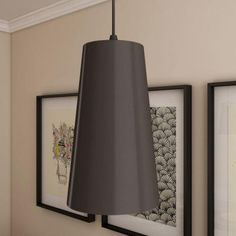 VONN Lighting Gatria Collection 11 in. x 6 in. Black/Nickel LED Modern Adjustable Pendant with Metal Shade-VMP21511BL - The Home Depot