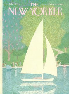The New Yorker - Monday, July 1, 1974 - Issue # 2576 - Vol. 50 - N° 19 - Cover by : Charles E. Martin