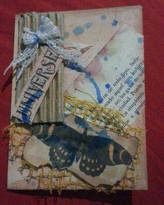 Postal hecha a mano #handmade #hechoamano #scrapbooking  #recycle #crafts #diy