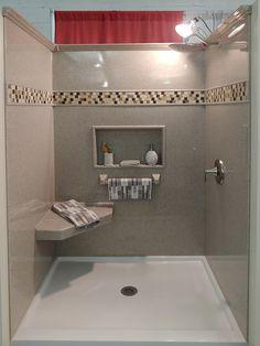 Shower Gallery Onyx Shower, Bathroom Shower Panels, Condo Bathroom, Bathroom Remodeling, Laundry Room Layouts, Home Additions, Bathroom Interior Design, Sink, New Homes