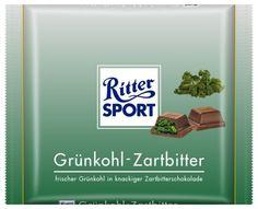 RITTER SPORT Fake Schokolade Grünkohl-Zartbitter
