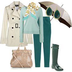 ¿Qué me pongo en días de lluvia? Gabardina, botas y ¡no olvides llevar la sombrilla dentro de tu bolso! aspeqtto.com