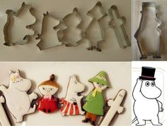 moomin cookie cutters - Google Search Moomin, Cookie Cutters, Tray, Cookies, Google Search, Crack Crackers, Biscuits, Trays, Cookie Recipes