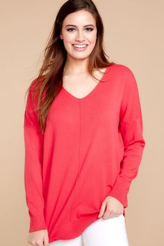 960812ad928 Comfy Bright Pink Sweater - Trendy Sweater - Sweater -  36.00 – Red Dress  Boutique Pink