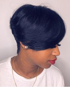 75 Cute Bob Haircuts and Hairstyles Inspired 2019 - Hairstyles Trends Short Sassy Hair, Braids For Short Hair, Short Hair Cuts, Pixie Cuts, Short Black Hairstyles, Cute Hairstyles, Elegant Hairstyles, Natural Hair Care, Natural Hair Styles