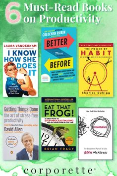 Looking for great books on #productivity right about now? It always feels harder to work this time of the year -- that's why you MUST check out these 6 great books on productivity! From classic productivity books like #getthingsdone, #eatthatfrog and The Power of Habit, to newer ones like Laura Vanderkam, Gretchen Rubin, and Essentialism by Greg McKeown, you'll love all of these! Working Mother, Working Moms, Great Books, New Books, Etiquette And Manners, Career Consultant, How To Stop Procrastinating, Work From Home Tips, Feeling Overwhelmed