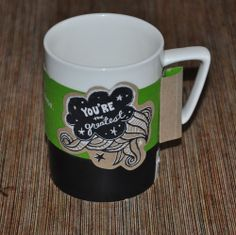 Starbucks Mug Made by You Personalize 16 ounce 2013 White Black