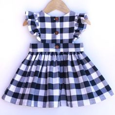 Gingham Pinafore Dress - Pinafore Dress Baby - Pinafore Dress Toddler - Gingham Girls Dress - Navy B Baby Girl Dress Patterns, Dresses Kids Girl, Kids Outfits, Skirt Patterns, Coat Patterns, Dress Girl, Blouse Patterns, Sewing Patterns, Robe Pinafore