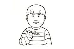 Sekunti (Kuva: Elina Vanninen) School Signs, Sign Language, Fictional Characters, Art, Sunnuntai, Cochlear Implants, Autism, Art Background, Kunst