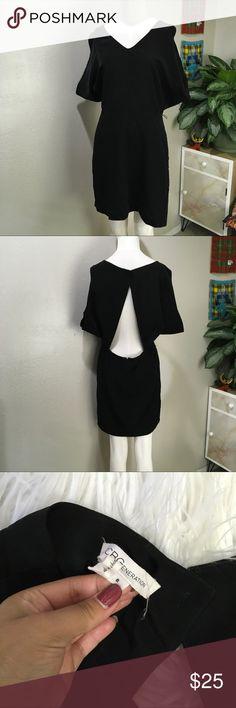 BCBGeneration Black Open Back Dress Sz L Black open back dress BCBGeneration Dresses
