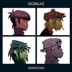 Demon Days is the second formal studio album (excluding G-Sides and Laika Come Home) released by Gorillaz. It is a loose concept album revolving around the theme of personal demons Art Gorillaz, Gorillaz Albums, Gorillaz Demon Days, Cool Album Covers, Music Album Covers, Famous Album Covers, Damon Albarn, Rock Indé, Buy Vinyl Records