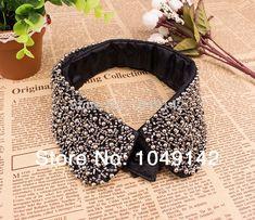 Black beading fake false collar for women punk detachable collars apparel accessories