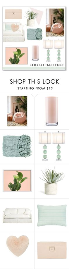 """Color"" by hellodollface ❤ liked on Polyvore featuring interior, interiors, interior design, home, home decor, interior decorating, Urban Outfitters, Kate Spade, Surya and Safavieh"