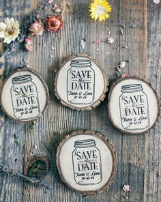 100 Custom Mason Jar Save The Date/Wedding by RedCloudBoutique