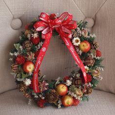 クリスマスリース「木の実リース」