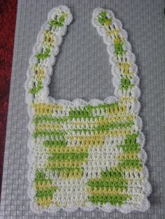 A DIY crocheted Bib