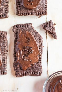 Homemade chocolate pop tarts with nutella