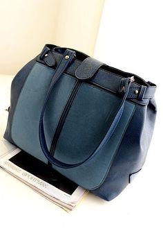 Korean Fashion Sueded Blue Shoulder Handbag