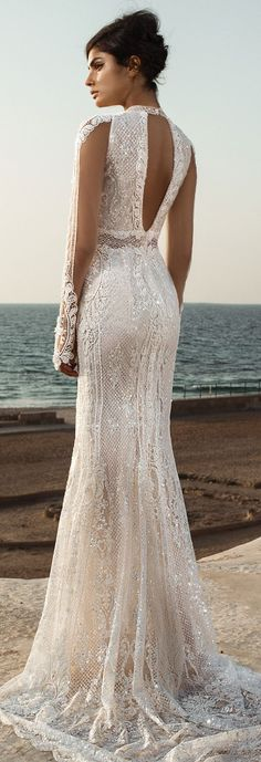 Modern Wedding Cakes Wedding Dress - GALA Collection NO. III by Galia Lahav - Boho brides, rejoice and get ready for some impossibly beautiful wedding dresses! GALA by Galia Lahav bridal Collection has it all! Dream Wedding Dresses, Bridal Dresses, Wedding Gowns, 2017 Wedding, Fall Wedding, Wedding Ideas, Wedding Dress Bling, Wedding Cakes, 2017 Bridal