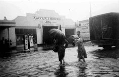 People affected by the Ascot Vale floods in 1954.