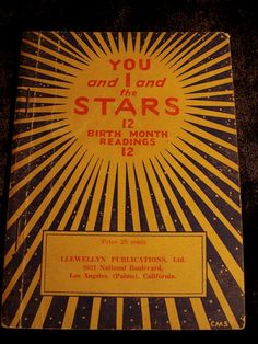 Antique Zodiac Astrology Booklet c. 1932  YOU and I and the STARS at Gothic Rose Antiques