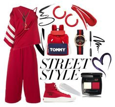 Win It! NYFW: Street Style by igiulia on Polyvore featuring Y-3, Tommy Hilfiger, Gucci, Kenneth Jay Lane, Yves Saint Laurent, Urban Decay, Bobbi Brown Cosmetics, Maybelline, contestentry and nyfwstreetstyle