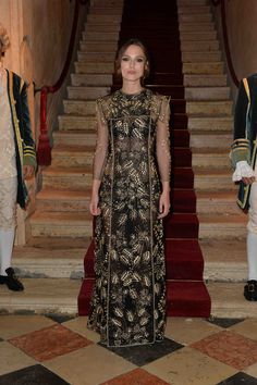 Keira Knightley wears a Valentino Haute Couture dress from the Fall Winter 13/14 collection at the Valentino Ball at Palazzo Volpi during the 70th Venice International Film Festival  on September 4th 2013 in Venice