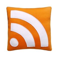 RSS Feed Pillow. $24.99, via Etsy.