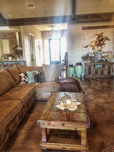 western home decor Organization Ideas living room Wonderful Rustic Living Room Decor Ideas And Remodel Holland Gibson Western Living Rooms, Chic Living Room, Living Room Interior, Living Room Decor, Western House Decor, Rustic Western Decor, Country Living Room Rustic, Western Style Interior, Italian Living Room