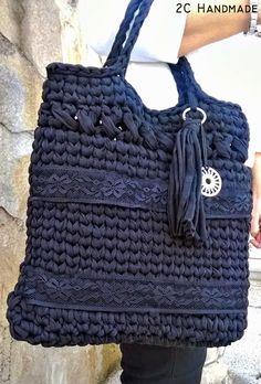 "Mini ""coffee time quilt"" by Ca Crochet Handbags, Crochet Purses, Love Crochet, Crochet Yarn, Sacs Tote Bags, Macrame Purse, Crochet Market Bag, Yarn Bag, Knitting Wool"