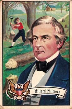1952 bowman us presidents 13 millard fillmore front
