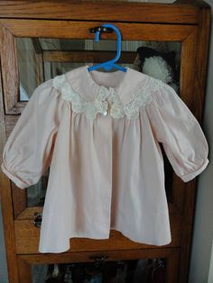 Vintage Baby Dress Jacket Pink Corduroy Hand by LeasAtticSpace, $12.00