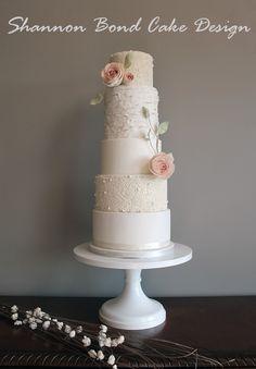 Elegant wedding cake/ Sweet Romance Wedding Cake / Shannon Bond Cake Design / www.sbcakedesign.com