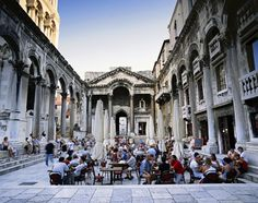 A cafe inside Diocletian's Palace -- a 1,700-year-old remnant of the Roman empire -- in Split, Croatia