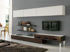 Modern Italian Wall Unit Velvet 905 by Artigian Mobili - Wall Units - Living Room