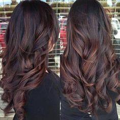 Dark brown red highlights