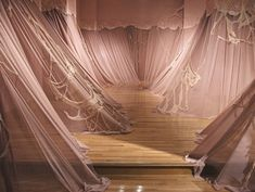 "installationarts: "" Carlie Troslair Perceiving Sensibility 2010 Fabric and wallpaper "" Fabric Installation, Fashion Installation, Artistic Installation, Art Installations, Architecture Design, Textiles, Museum, Romeo And Juliet, Textile Artists"