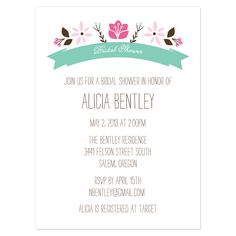 wedding shower invitations wording google search