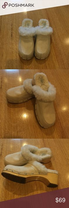 d3acccc5da UGGS clogs sleeper shoes UGGS sleeper shoes in creme color. Real cute and  cozy. Very clean only worn like maybe 2 times UGGS Shoes Slippers