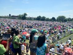 Here's another picture of the Girl Scouts in full force on the National Mall, taken by the Girl Scout Council of the Nation's Capital.