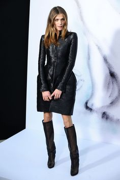 Elisa Sednaoui in Chanel and Christian Louboutin boots