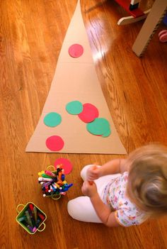 Cardboard Christmas Tree - let the kids decorate however they want and display it!