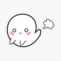 Cute embarrassed farting ghost sticker. funny spooky kawaii illustration poof #ghostfart #funnyghost harajuku Japanese blushing ghost Kawaii Transparent, Transparent Stickers, Tf Art, Funny Ghost, Kawaii Illustration, Business Class, Cute Stickers, Harajuku, Snoopy