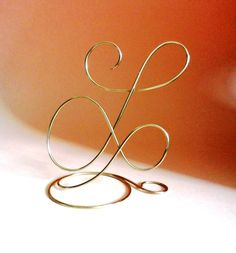 Wedding cake topper, Alphabet Letter Monogram Silver and Gold Any Letter A B C D E F G H I J K L M N O P Q R S T U V W X Y Z by WeddingDdecor on Etsy https://www.etsy.com/listing/208466591/wedding-cake-topper-alphabet-letter