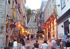 A favorite thing to do is visit the Funicular, which offers great views of the city! #Canada #Funicular #Montreal #Quebec