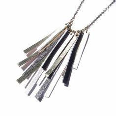 ** Scrap Leather Fringe Necklace @alittlemarket