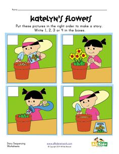 Sequence Worksheets for Kindergarten. 20 Sequence Worksheets for Kindergarten. March Sequence Writing for Beginning Writers Story Sequencing Pictures, Story Sequencing Worksheets, Sequencing Cards, Sequencing Activities, Kindergarten Worksheets, Worksheets For Kids, Sequencing Events, Nursery Worksheets, Cognitive Activities