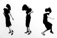 """Robert Longo (born January is an American painter and sculptor. Longo became a rising star in the for his """"Men in the C. Spin Me Right Round, Art And Architecture, Black And White Photography, Art Photography, Motion Photography, Images, Photoshop, Silhouette, Poses"""