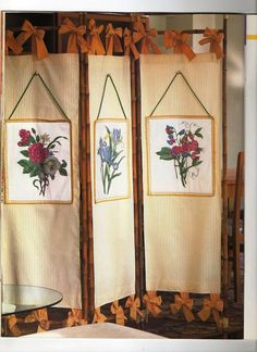 Diy Room Divider, Room Divider Screen, Room Screen, Wooden Christmas Crafts, Temporary Room Dividers, Glass Partition, Cat Room, Fabric Painting, Cross Stitch